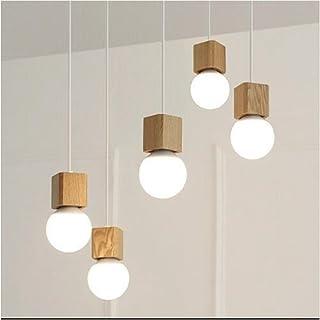 Lámpara De Techo Nórdica Lámpara De Techo De Madera Lámpara De Cuerda LED Moderna Lámpara De Dormitorio De La Sala De Niños Simple Sala De Estar Lámpara (Color : White)