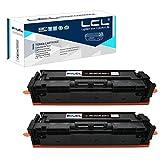 LCL Kompatibel Tonerkartusche 045 CRG045 CRG-045 (2Schwarz) Ersatz für Canon i-SENSYS LBP611C/LBP611CN/LBP612C/LBP612CDW/LBP613Cdw MF631Cn/MF632Cdw/MF633Cdw/MF634Cdw/MF635cx