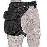 ROZZERMAN 腿にベストフィット! ウェストポーチ 腿用 バッグ 多機能 タクティカル マガジン クリアな袋がセットで包装 ブラック