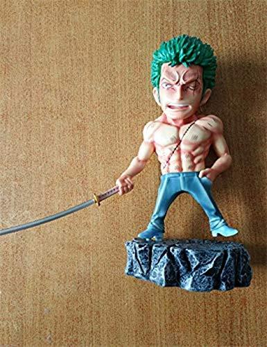 LEH-MOU Anime One Piece Underworld Roronoa Zoro Sanji Monkey D Luffy con Tatuaje PVC Figura de acción Juguetes 15cm Luffy con Caja-Luffy con Caja-Zoro con Caja