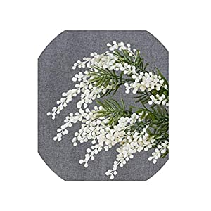 5 Pcs Australia Acacia Yellow Mimosa Spray Silk Flower Artificial Flower Wedding Flower Party Event Decor