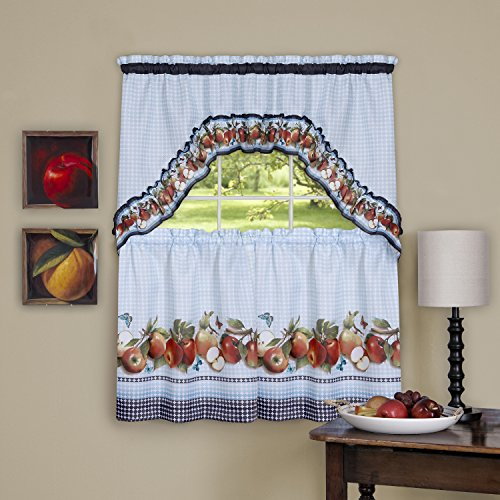 Achim Home Furnishings GDTS36IB12 Golden Delicious Window Curtain Tier &...