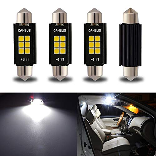 iBrightstar Newest 9-30V Extremely Bright 212-2 578 Festoon Error Free 1.61' 41mm LED for Interior Map Dome Lights and License Plate Courtesy Lights, Xenon White