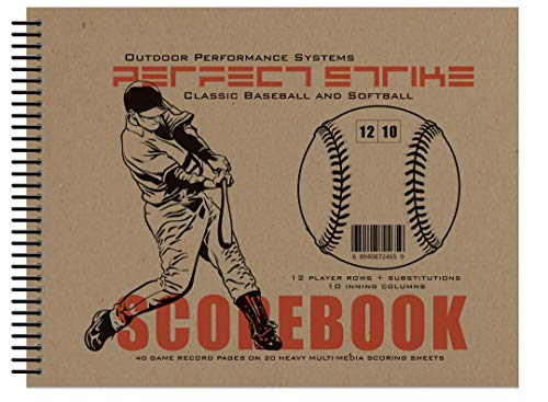 Perfect Strike Baseball SCOREBOOK with Rules and Scoring Instructions : Heavy Duty. Great for Youth and Adult Baseball.
