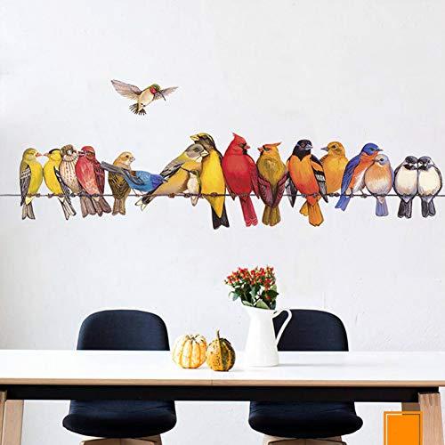 DAIZHJ veel vogels zijn aan het touw wandstickers decoratie DIY woonkamer bank achtergrond wandtattoo poster stickers