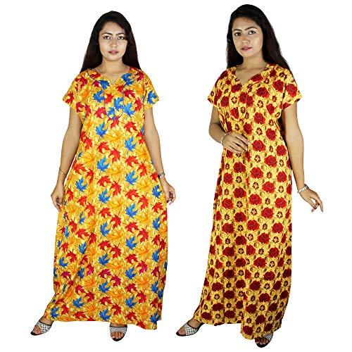 Riyashree Club Nighty Classical Cotton Women's Maxi Nightwear nitghtdress Nighty...