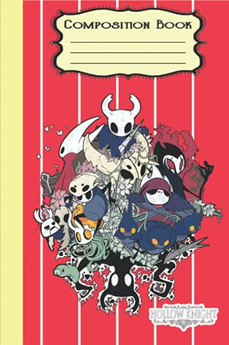 Hollow Knight Composition Notebook Merch: Chainsaw Man Notepad Book   The Knight Notebook   Diary For Any Occasion Gifts in Work Office, Home, School With 6x9 inches (114 Pages)