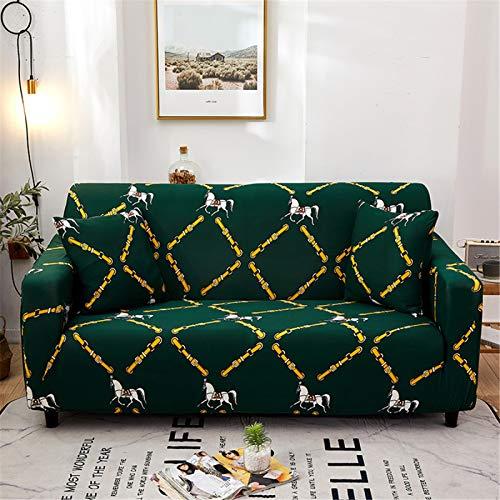 El Sofá En Forma De L Necesita 2 Fundas De Sofá, Funda De Sofá Elástica Opcional Multicolor Antideslizante Decoración del Hotel En Casa Cojín De Sofá Envolvente 1 Seater (90-140 cm)