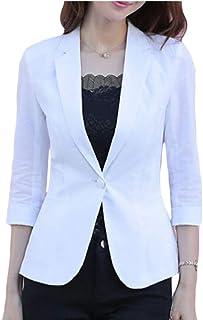 maweisong 女性3 / 4スリーブスーツ固体カラー仕事スリムフィットコートブレザー