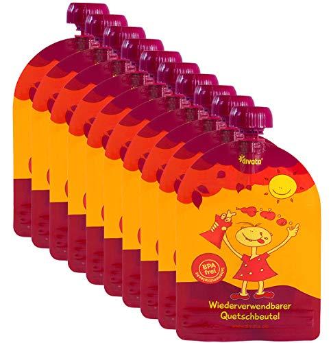 divata MINI Quetschies (100ml, 10er Set) - Wiederverwendbare Quetschbeutel zum selbst befüllen für Babys und kleine Kinder