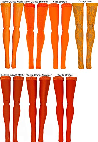 Orange Doll Stockings for Ever After and Monster High dolls - all sizes