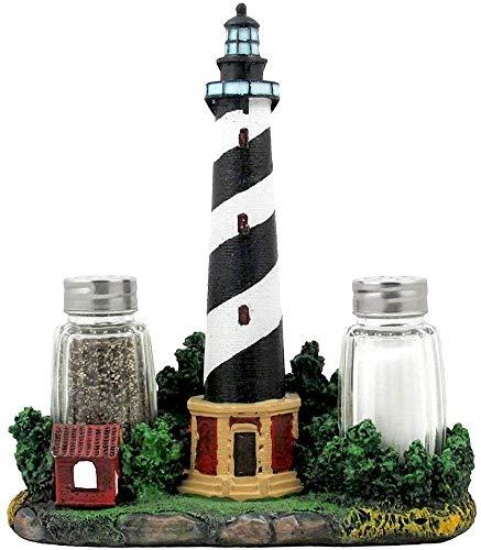Nautical Cape Hatteras Lighthouse Glass Salt and Pepper Shaker