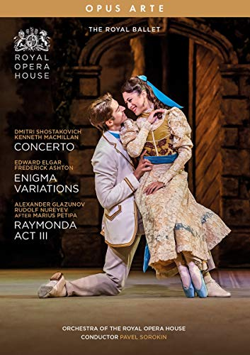MacMillan, K.: Concerto / Ashton, F.: Enigma Variations / Nureyev, R.: Raymonda, Act III [Ballets] (Royal Ballet, 2019) (NTSC) [DVD]