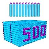 AMOSTING Refill Darts 500pcs Bulk Bullets Ammo Pack for Nerf Fortnite N-Strike Elite Strike Series Guns - Blue, 500baby Blue