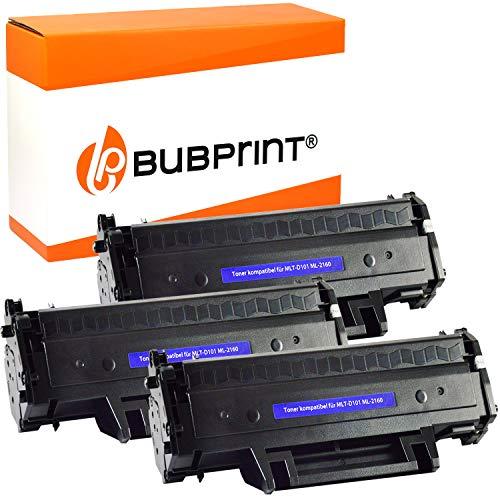 Bubprint 3 Toner kompatibel für Samsung MLT-D101S/ELS für ML-2160 ML-2164 ML-2165W ML-2168 SCX-3400 SCX-3405 SCX-3405FW SCX-3405W SF-760P Schwarz