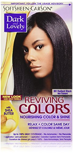 SoftSheen-Carson Dark and Lovely Reviving Colors Nourishing Hair Color & Shine, Radiant Black 391