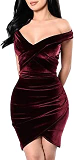 Vestidos De Fiesta Cortos De Mujer Sexys Color Vino Ropa De Moda para Fiesta Noche Elegantes Casuales