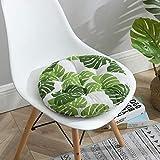 MELAG Chair Cushion Seat Set of 6 Padded Cushion Chair Seat Pads Chair Seat Cushion Pads Kitchen Garden Dining Thick Round Cushion Summer Chair Cushion Cotton and Linen Cushion(4040CM,4545CM)