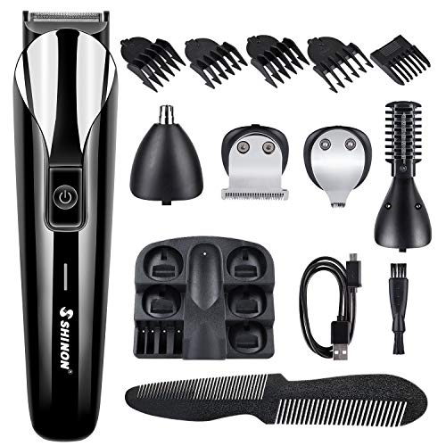 Hair Clippers for Men, Kirapure 6 in 1 Multifunctional Trimmer Hair Clipper Shaver Beard/Face/Body/Nose/Ears/Eyebrow with 5 Combs Hair Cutting Kit for Men and Family use