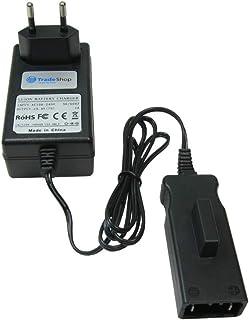 Trade-Shop 25 V Li-Ion batteriladdare laddningsstation för Gardena 04025-20 8838 spindelgräsklippare 380 LI Spindelmätare ...