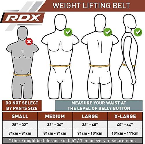 RDX Gym Leder Gewichthebergürtel Training Fitness Gürtel Dips Dreikampfgürtel - 5