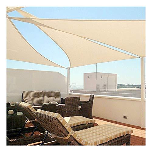 Gxiang Beige Sun Shade Sail Canopy Bloque UV  Triángulo Rectángulo Verano Durable Patio Al Aire Libre Deck Beach Tabla Tela Tela Cubierta De Arena (Size : 6.5x6.5x6.5ft)