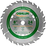 Product Image of the Oshlun SBW-080024 8-Inch 24 Tooth ATB General Purpose and Framing Saw Blade with 5/8-Inch Arbor (Diamond Knockout)