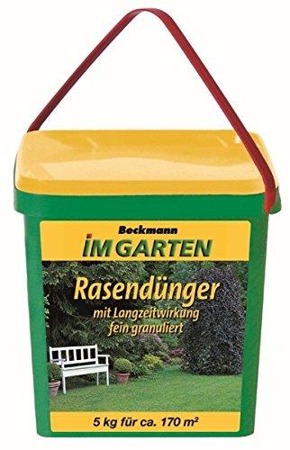 Beckmann Rasen Dünger mit Langzeitwirkung 5 kg für 170 m²