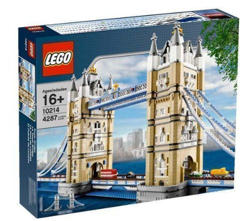 LEGO Rare - Tower Bridge - 10214 + Placa de base gris (38x38 cm)