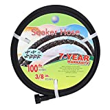 Cuckoo Soaker Hose 100ft With 3/8' Diameter-Soaker Hose Kit with Heavy Duty Rubber Hose Pipe for Irrigation-Save 70% Water-Great for Garden Flower Beds.