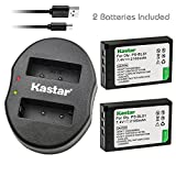 Kastar Battery 2 Pack and Dual Charger for Olympus BLS-1 PS-BLS1 and Olympus E-400 E-410 E-420 E-450 Olympus E-600 E-620 Olympus E-P1 E-P2 E-P3 Olympus E-PL1 E-PL1s E-PL3 Olympus E-PM1 Camera