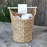 Chic Antique Portarrollos de papel higiénico, cesta de mimbre