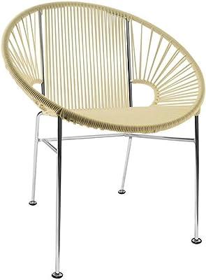 Amazon.com: innit diseños Acapulco Chair, Negro Weave sobre ...