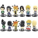 6 Unids / Set Naruto Wave Nara Shikamaru Anime Figura De Acción De Dibujos Animados Adornos De Juguete Decorativos 10 Cm