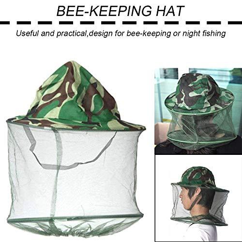 creatspaceDSF Sombrero de apicultura Gorra de camuflaje al aire libre