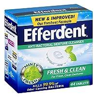 Efferdent フレッシュ&クリーン抗菌義歯クレンザー錠 - 44 CT、3パック
