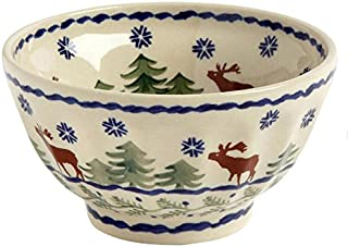 polish pottery christmas bowl