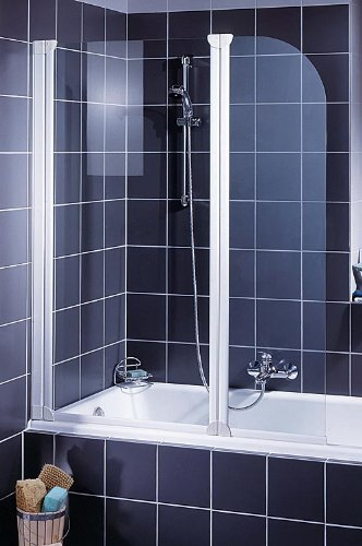 Schulte D1653 04 50 Komfort Duschabtrennung für Badewanne, alpinweiß