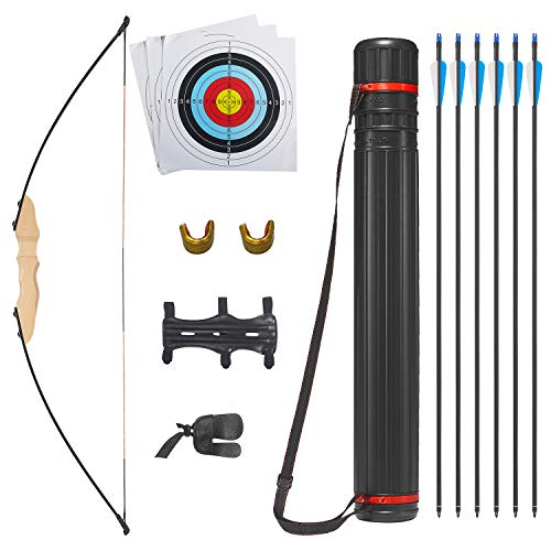 NIY Takedown Recurve Bow and Arrow Set Hunting Longbow Archery Bow and Arrow for Adults 30-40lbs (Vulture, 40lb)