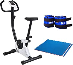 Bicycle Exercise and Slimming from Fitness World, Silver, CF-937A With Sandbags for exercise 2 kg 2 tablets With Yoga Worl...