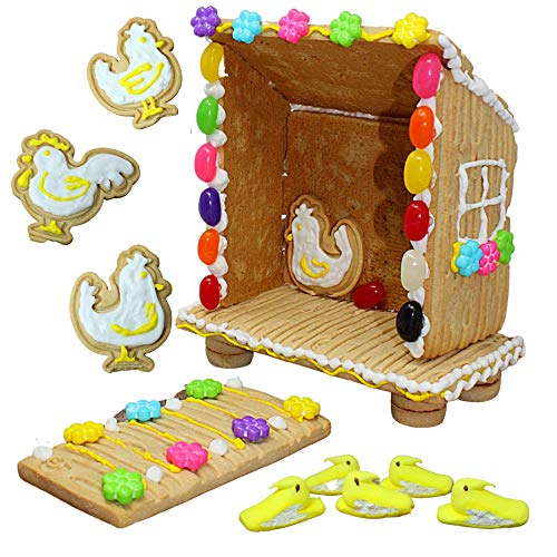 Peeps Cookie Coop Kit with Yellow Easter Peep Chicks, Icing and Cookies, DIY Dessert Activity for Families, 24 Ounce from