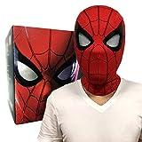 QWEASZER Spider-Man Mask, Lontano da casa, Spiderman 1: Casco Maschera 1 Elettronica Completa, Film Cosplay Copricapo degli Accessori del Costume, Halloween copricapi,Red-28 * 19CM