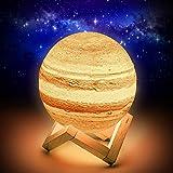 Planeten Lampe,15CM Jupiter Lampe,Planeten Deko 16 Farben,
