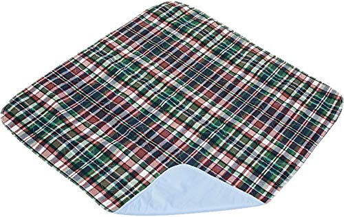 Careoutfit 2 Pack - Plaid Waterproof Reusable/Quilted Washable Large Dog/Puppy Training Travel Pee Pads Size 24 x 36