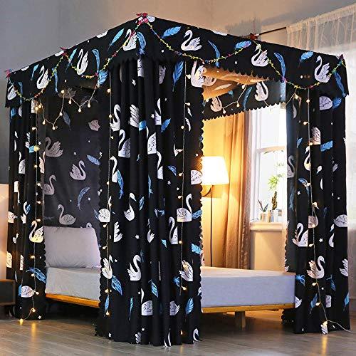 MoustiquairesNouveau moustiquaire anti poussière épaissi rideau de lit occultant moustiquaire rideau de lit simple double princesse moustiquaire Magic Mary Rideau en tissu 1,8 * 2,0 + support + fil