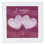 3dRose qs_37929_2 I Love You Musical Song Notes Romantic