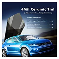 Easy to install 1.52x6m 4mil 35%VLTブラックスーパークリア安全/セキュリティフィルムナノセラミックウィンドウ色合いビニール