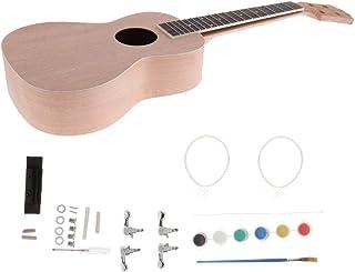 Sharplace Kit de Montaje Juguete Basswood Ukulele 23 Pulgadas Uke DIY Regalo para Niños - Beige
