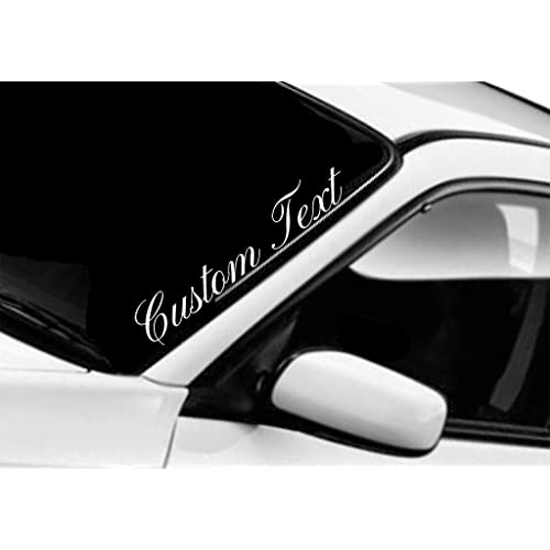 RatchetDecals aa-29 Custom Text Sticker Windshield Decal Window Car JDM