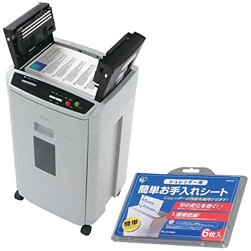 アイリスオーヤマ シュレッダー 電動 アイリスオーヤマ アイリスオーヤマ 家庭用 業務用 クロスカット オートフィード 電動 オフィス CD DVD カード対応 安心 安全 裁断 細断 静音 キャスター付き 会社 大型 39L AFS150HC-H グレー CD DVD カード対応 静音(530253) ()